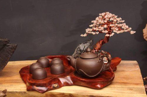 Bonsai bằng đá quý,đá phong thủy,khây trà thác trầm,tiểu cảnh - 2