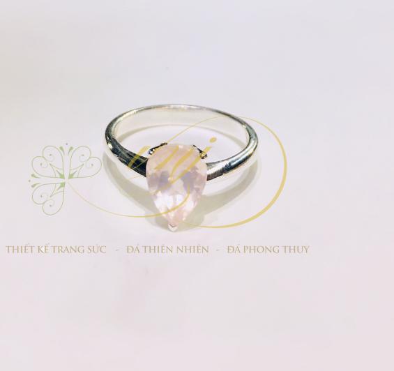 Nhẫn đá thạch anh hồng NN1600