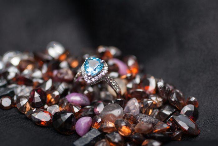 Nhẫn đá Topaz Blue NNT1107